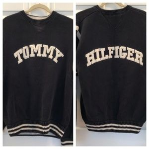 Tommy Hilfiger Sweater Spell Out Size Large 175